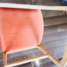 カッシーナ 座面がオレンジ布地チェア 椅子