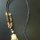 金魚の天然石 ネックレス
