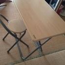 シンプル机 椅子1つ付