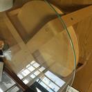 円形  ガラステーブル