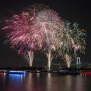 船に乗って花火&カニすくいの画像