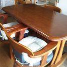 木製テーブル・椅子セット