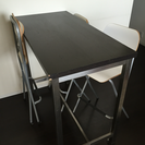 IKEA バーテーブル&バーチェア3脚