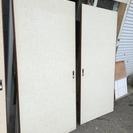【差し上げます】中古 屋内用木製引き戸 (1)