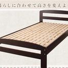【超美品】三つ折りマットレスつきシングルベッド