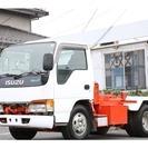 いすゞ エルフ 脱着装置付コンテナ専用車 コンテナ車 アームロール 極東