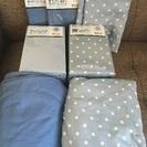 掛けカバー・ボックスシーツ・枕カバーのセット☆未使用品&美品