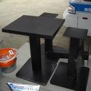 黒テーブル 上木製・下部スチール