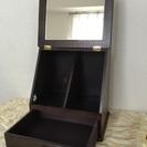 木製 メイクボックス 鏡付き 引出し付き
