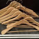 木製ハンガー10本 つっぱり棒2本