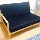 IKEA ウッド2人掛けソファー