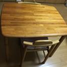 2人用、食卓テーブルと椅子2脚