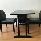テーブル椅子2脚セット