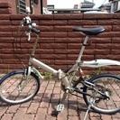 折りたたみ自転車 (スリックタイヤ、サドル交換)