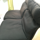 無印良品ハイバックリクライニングソファ、2シーター