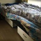 無印引き出し付きベッド