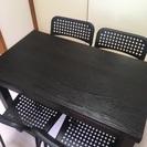 無料配送致します! 美品 IKEAダイニングテーブル&椅子4脚