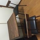 ウッドメイド ダイニングテーブルセット(テーブル1個+イス2個)