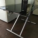 高さ 調整できる ガラステーブル