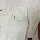 アンダーシャツ、半袖Tシャツ白Oサイズ