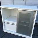 キッチンカウンター レンジボード スライド扉で省スペース 調理家電...