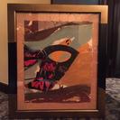 値下げ‼️  絵画  3枚で一つの絵