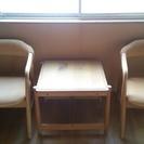 椅子2脚、テーブルセット