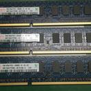 メモリ(2gb×3枚) PC3-10600E-9-10