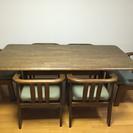 ダイニングテーブルと椅子6脚