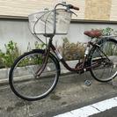 中古自転車 26インチ ブラウン 3段変速付き