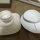 白いお皿いろいろ