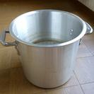 【値下げ】中古アルミ寸胴鍋 内径24cm 手有り 蓋なし