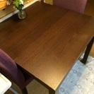 【値下げしました】ダイニングテーブル 椅子2脚