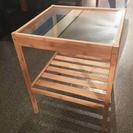 【終了致しました】竹とガラスのデザインベッドサイドテーブル