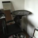 カンターテーブル➕専用椅子二個セット
