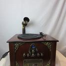 蓄音機 AC-11V CD ラジオ レコード プレーヤー 1267