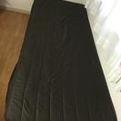 ベッド 茶色 シングル シンプル