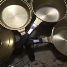 しばのキッチン製ミニゴールドNEO一式及びフライパン