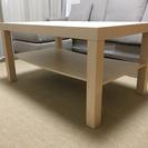 テーブル バーチ調 90×55センチ 高さ45センチわ