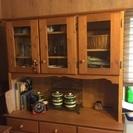 ウッド調食器棚