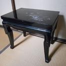 黒うるし塗り 螺鈿彫 サイドテーブル②