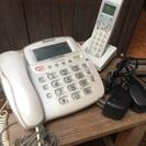 パイオニア電話機 子機1機付き アダプター二個