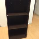 三段カラーボックス(茶色)