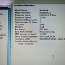 Macbook late 2006 13inch Core 2 duo