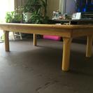 木のテーブル(折りたたみ式)