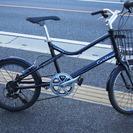 20インチ 小径車 ミニベロ 自転車 黒