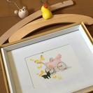赤ちゃんのお部屋に♫いわさきちひろの絵とハンガー2本差し上げます。
