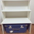 IKEA白棚+青収納箱