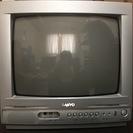 ブラウン管テレビとデジタルチューナーとテレビ台セット