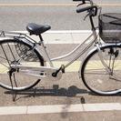 ママチャリ 26インチ 自転車 シルバー
